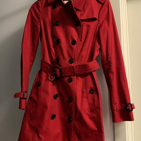 Burberry red trench